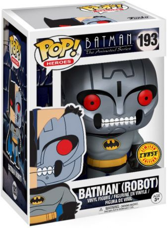 Figurine Funko Pop Batman : Série d'animation [DC] #193 Batman (Robot) [Chase]