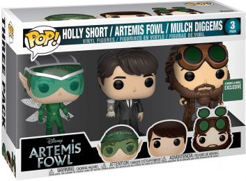 Figurine Funko Pop Artemis Fowl [Disney] #0 Holly Short, Aretmis Fowl & Mulch Diggems - 3 pack