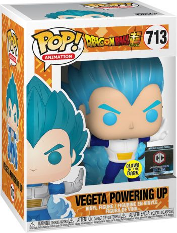Figurine Funko Pop Dragon Ball #713 Vegeta Mise sous tension - Brillant dans le noir