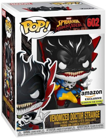 Figurine Funko Pop Spider-man : Maximum Venom [Marvel] #602 Docteur Strange Venomizé - Brillant dans le noir