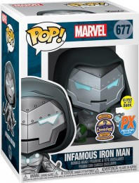 Figurine Funko Pop Marvel Comics #677 Infamous Iron Man - Brillant dans le noir
