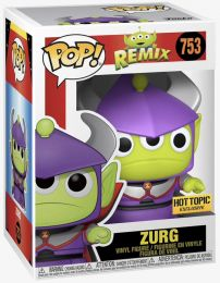 Figurine Funko Pop Alien Remix [Disney] #753 Alien (Zurg) - Métallique