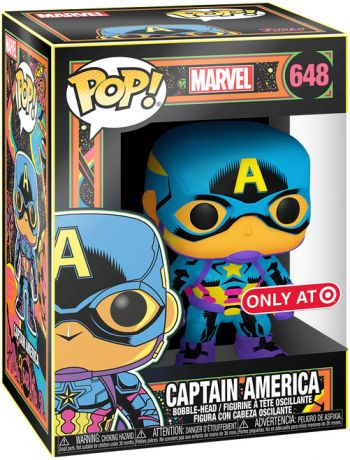 Figurine Funko Pop Marvel Comics #648 Captain America - Néon