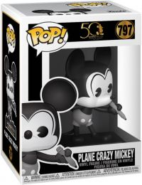 Figurine Funko Pop Mickey Mouse [Disney] #797 Avion fou Mickey - Noir & Blanc