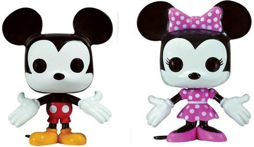Figurine Funko Pop Disney premières éditions [Disney] #01 Mickey Mouse & Minnie Mouse - 2 pack