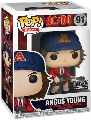 Figurine Funko Pop AC/DC #91 Angus Young (Veste Rouge)