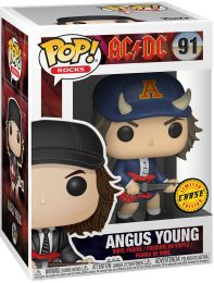 Figurine Funko Pop AC/DC #91 Angus Young (Casquette de Diable) [Chase]