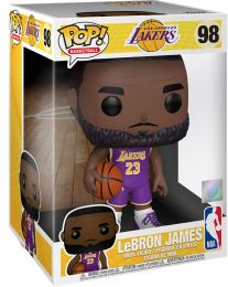 Figurine Funko Pop NBA #98 LeBron James (Maillot Violet) - 25 cm