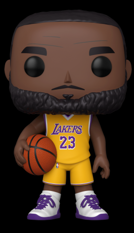 Figurine Funko Pop NBA #97 LeBron James (Maillot Jaune) - 25 cm