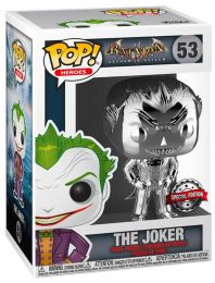 Figurine Funko Pop Batman Arkham Asylum #53 Le Joker chrome