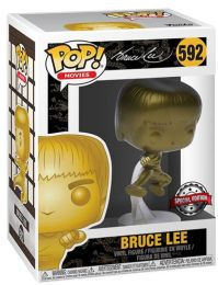 Figurine Funko Pop Bruce Lee #592 Bruce Lee saut or