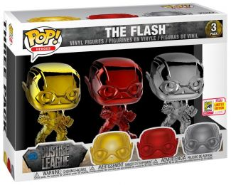 Figurine Funko Pop Justice League [DC] 29782 - Flash - Chrome - 3 Pack  pas chère