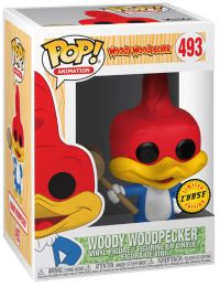 Figurine Funko Pop Walter Lantz Productions #493 Woody Woodpecker avec maillet [Chase]
