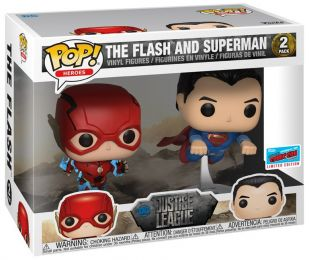 Figurine Funko Pop Justice League [DC] 34421 - Flash & Superman - Course - 2 Pack  pas chère