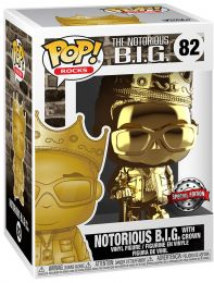 Figurine Funko Pop Notorious B.I.G #82 Notorious B.I.G. avec couronne