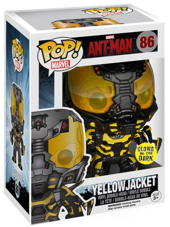 Figurine Funko Pop Ant-Man et la Guêpe [Marvel] #86 Costume Jaune - Glow in the dark
