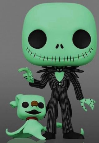 Figurine Funko Pop L'étrange Noël de M. Jack [Disney] #809 Jack Skellington avec Zéro - Glow in the Dark