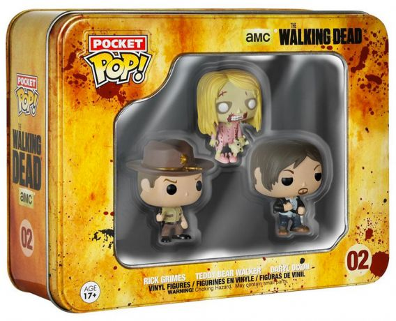 Figurine Funko Pop The Walking Dead #02 Rick Grimes, Teddy Bear Walker, Daryl Dixon - 3 Pack