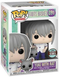 Figurine Funko Pop Fruits Basket #891 Yuki Sohma avec Rat