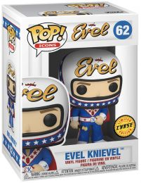 Figurine Funko Pop Being Evel #62 Evel Knievel avec casque [Chase]