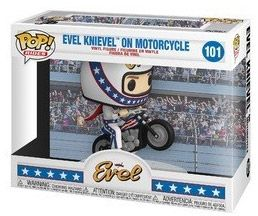 Figurine Funko Pop Being Evel #101 Evel Knievel en moto