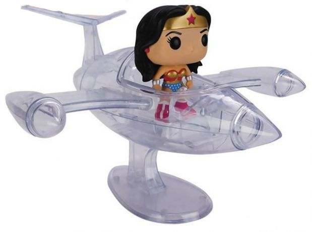 Figurine Funko Pop DC Super-Héros #16 Wonder Woman jet invisible