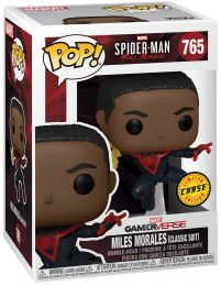 Figurine Funko Pop Marvel's Spider-Man: Miles Morales #765 Miles Morales costume classique [Chase]