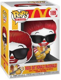 Figurine Funko Pop McDonald's #109 Rock Out Ronald McDonald