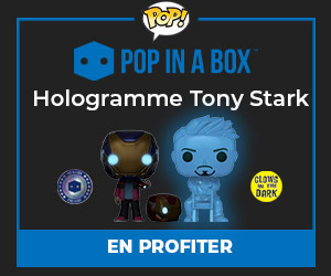 Exclusivité Hologramme Tony Stark et Morgan avec casque - Glow in the Dark