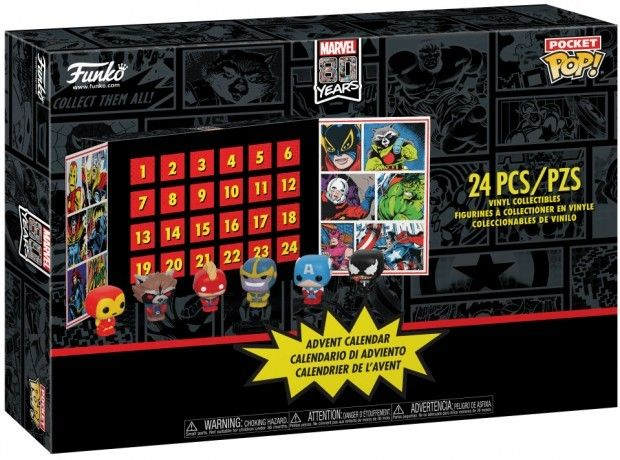calendrier de l'avent marvel comics pop